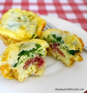 Low Carb Layered Breakfast Muffin