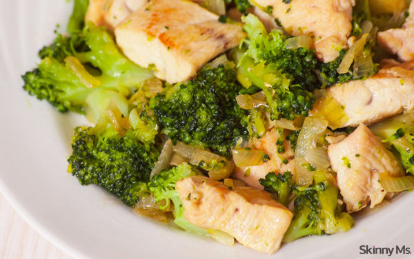 One-Skillet Chicken and Broccoli Dinner
