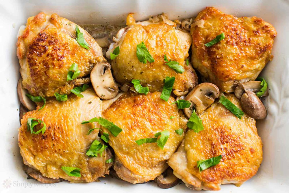 Chicken Thighs with Mushrooms and Shallots