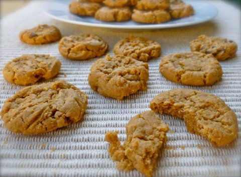 Easy 4-Ingredient Peanut Butter Button Cookies Recipe