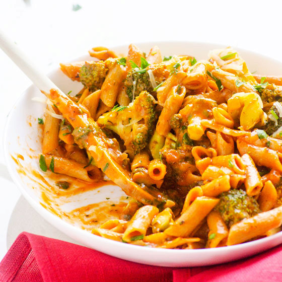 Penne with Broccoli in One Pan