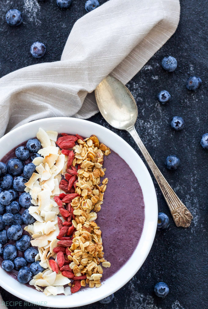 Blueberry Power Smoothie Bowl