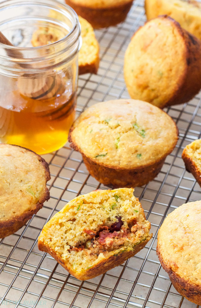 Chili Stuffed Cornbread Muffins