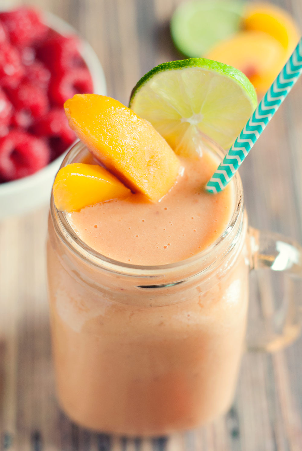 Raspberry Peach Smoothie