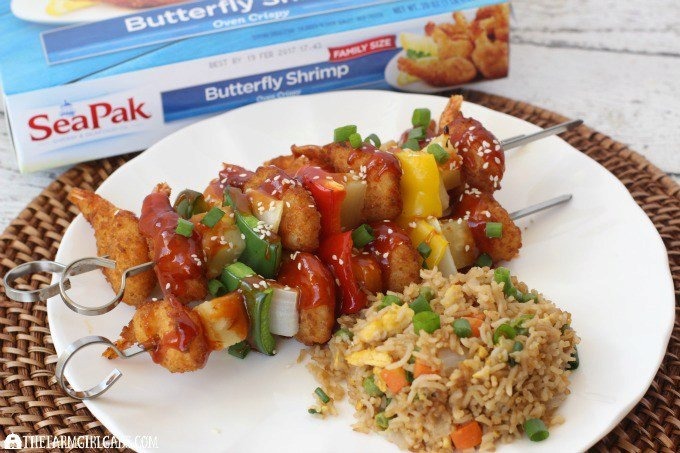 Sweet And Sour Shrimp Skewers
