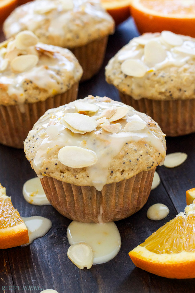 Orange Almond Poppy Seed Muffins