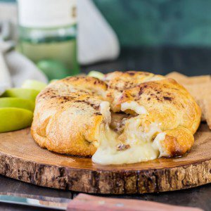 Apple Pie Baked Brie