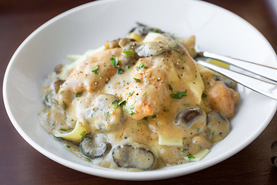 Creamy Chicken Stroganoff with Mushrooms