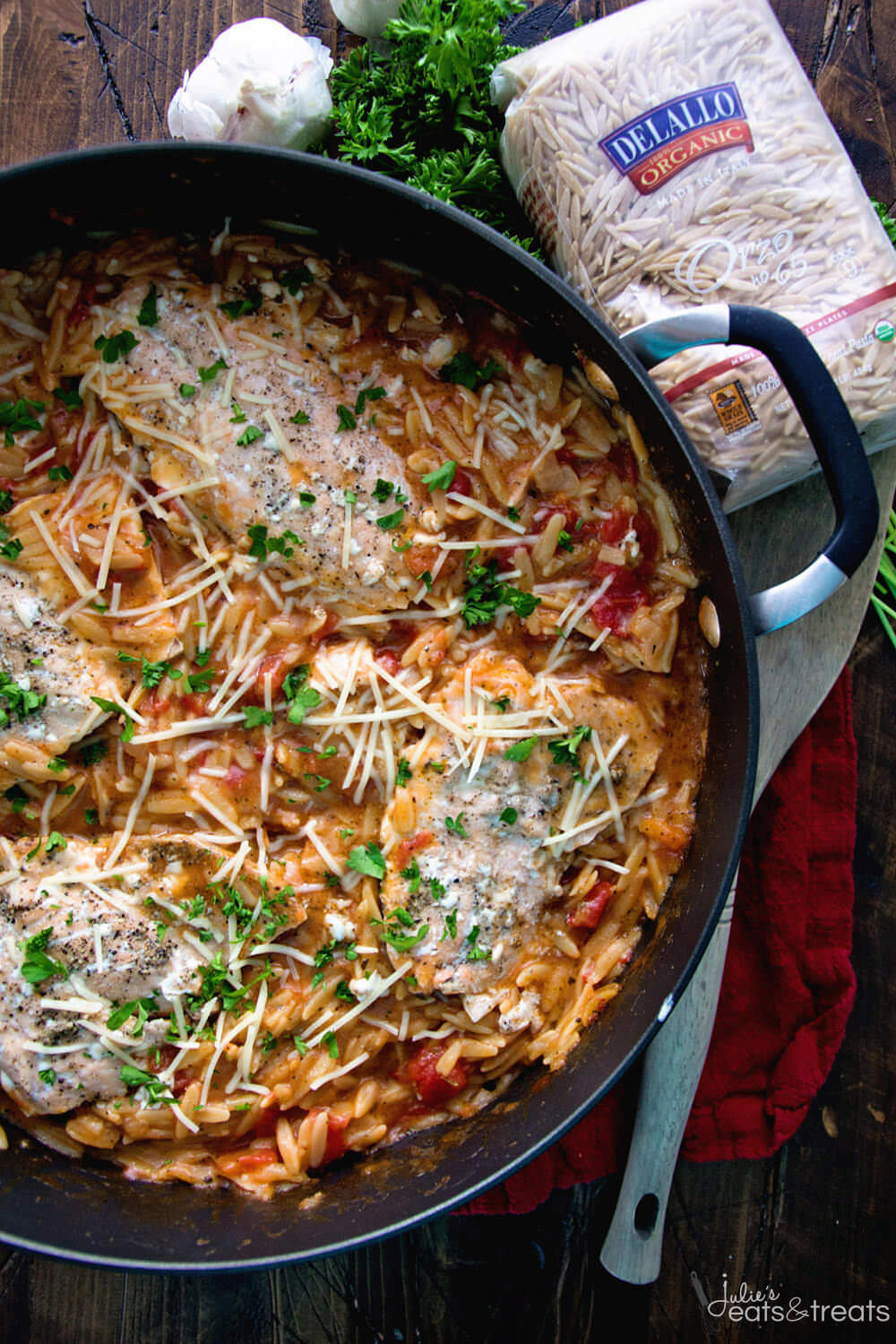 Light Italian One Pot Salmon & Orzo Recipe