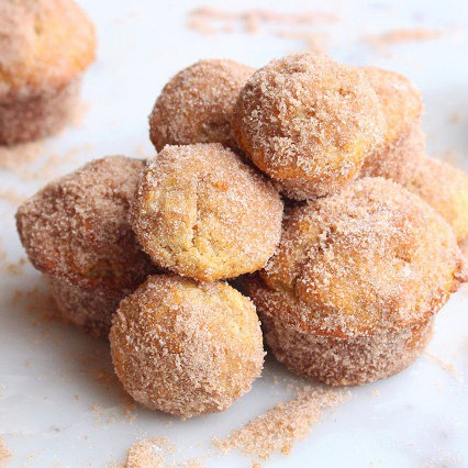 Mini Brown Butter Donut Muffins