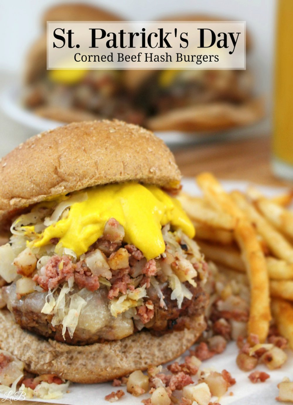 Corned Beef Hash and Kraut Burgers