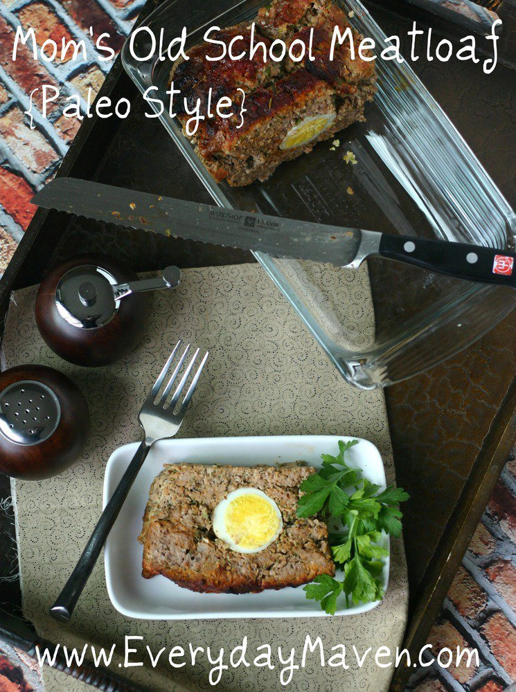 Mom's Old School Meatloaf {Paleo Style}