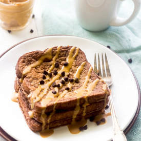 Chocolate Peanut Butter Protein French Toast