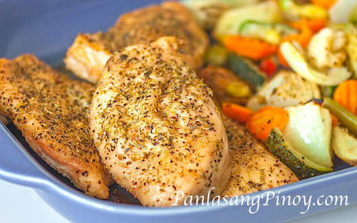 Rosemary Baked Chicken Recipe with Vegetables