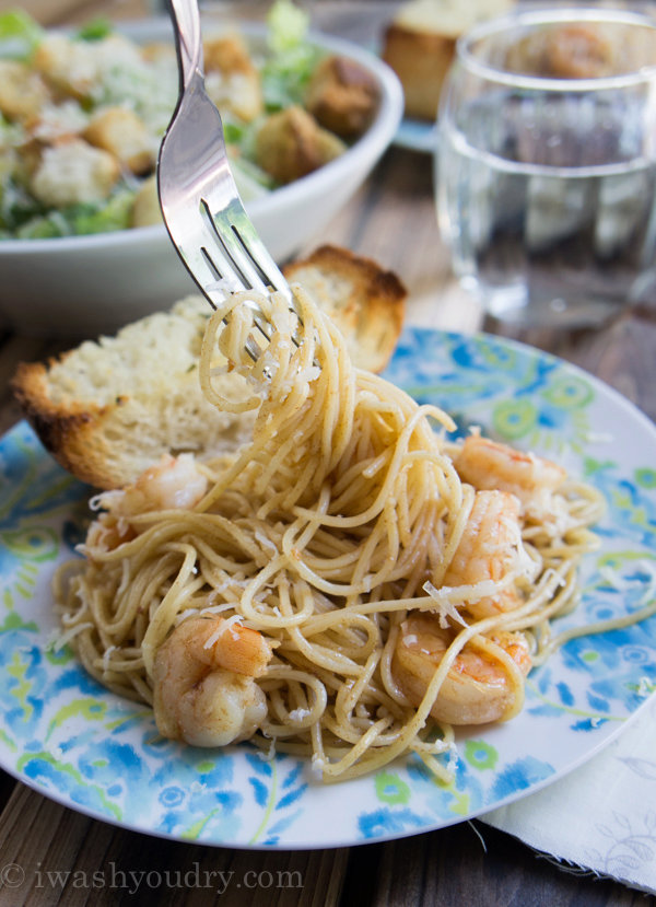 Garlic and Brown Butter Shrimp Pasta {15 minute dinner recipe}