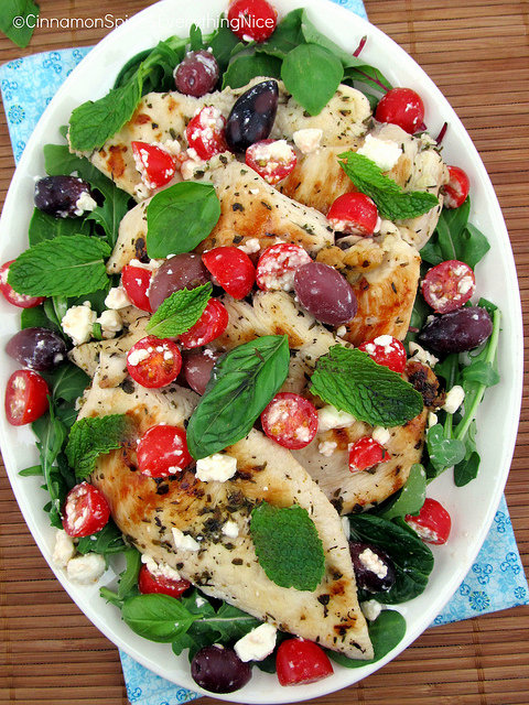 Greek Chicken with Olives, Feta and Tomatoes