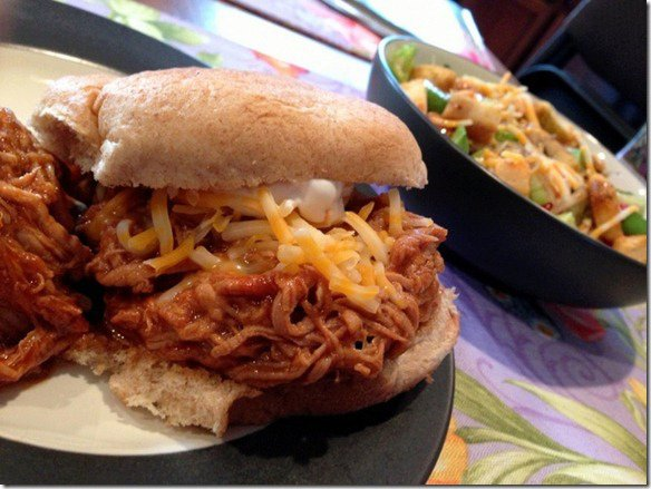 Slow Cooker BBQ Pulled Chicken & A Sweet Treat