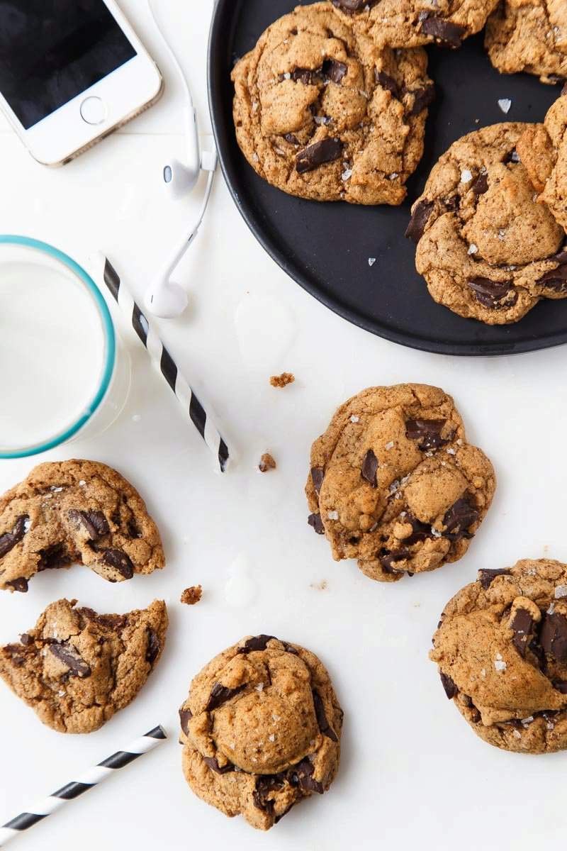 Almond Butter Chocolate Chunk Cookies (ABCs!)