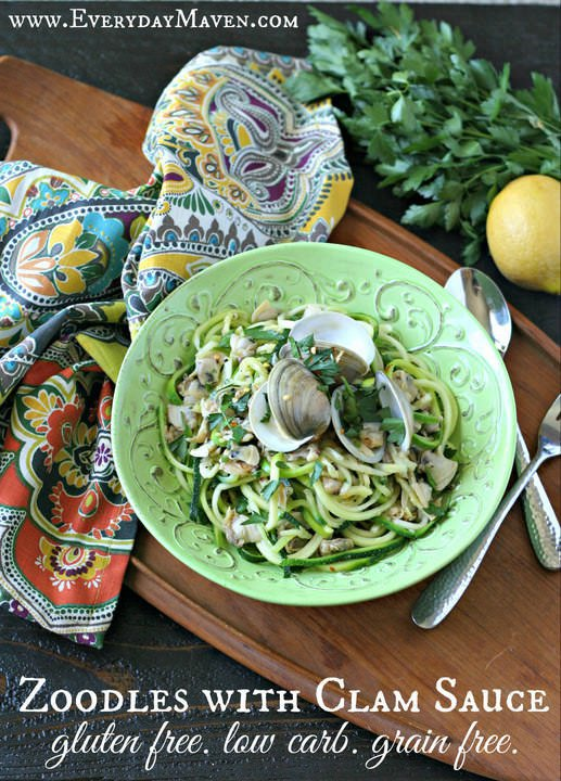 Zucchini Noodles with Clam Sauce