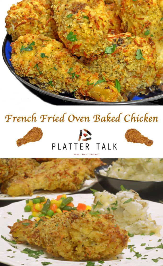 French Fried Onion Ring Baked Chicken Recipe