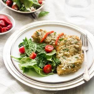 Goat Cheese and Quinoa Crusted Chicken