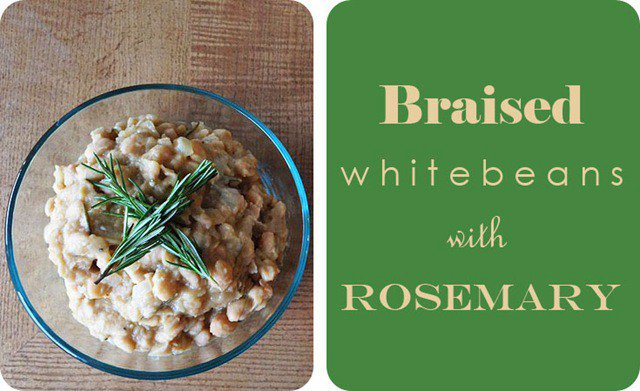 Braised White Beans with Rosemary