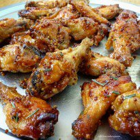 5-Ingredient Slow Cooker Honey-Dijon Chicken Wings