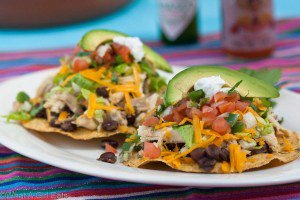 Slow-cooker Mexican Style Cilantro-Lime Chicken Tostadas