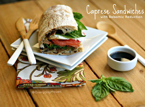 Caprese Sandwiches with Balsamic Reduction
