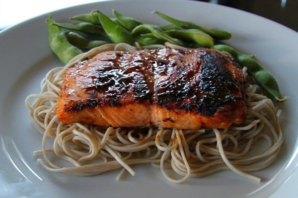 Recipe: EASY Salmon With Brown Sugar And Mustard Glaze
