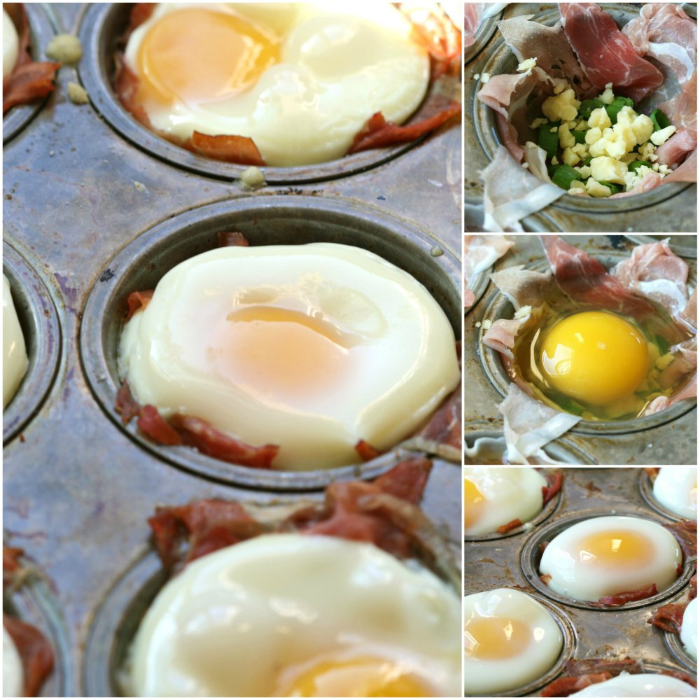 Baked Eggs and Prosciutto Cups