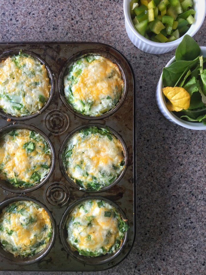 Egg White & Veggie Breakfast Muffins