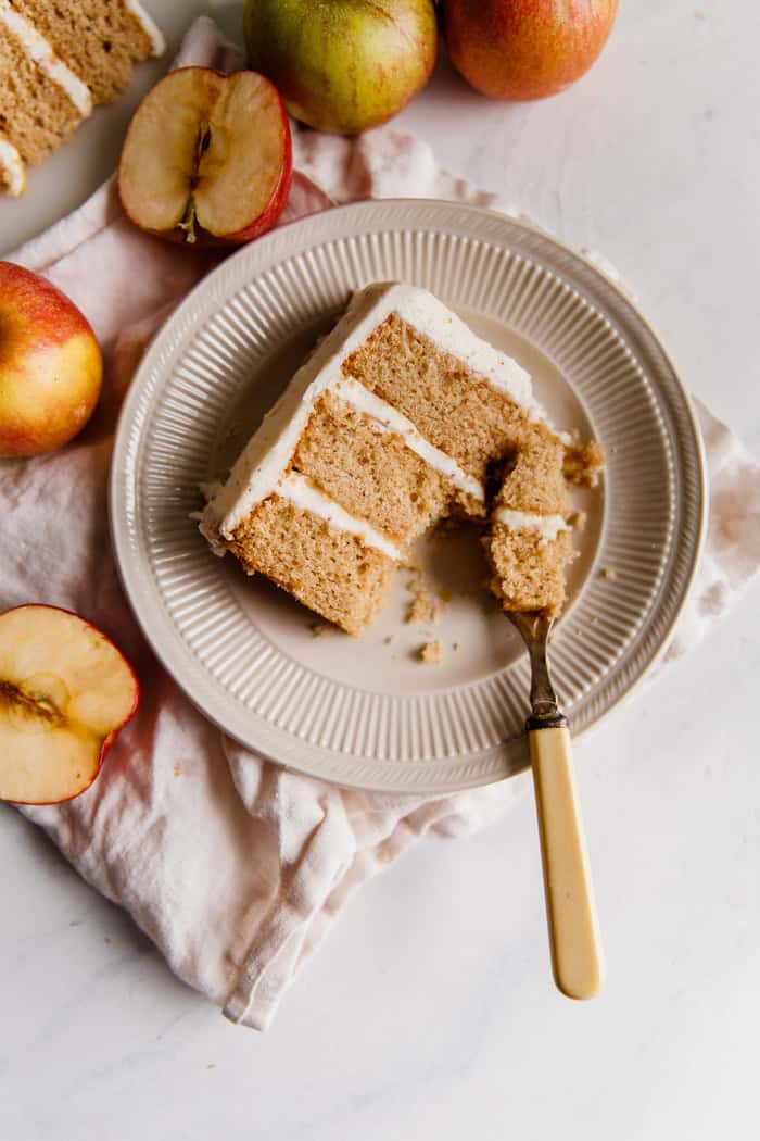Spiced Cider Apple Cake with Brown Butter Frosting