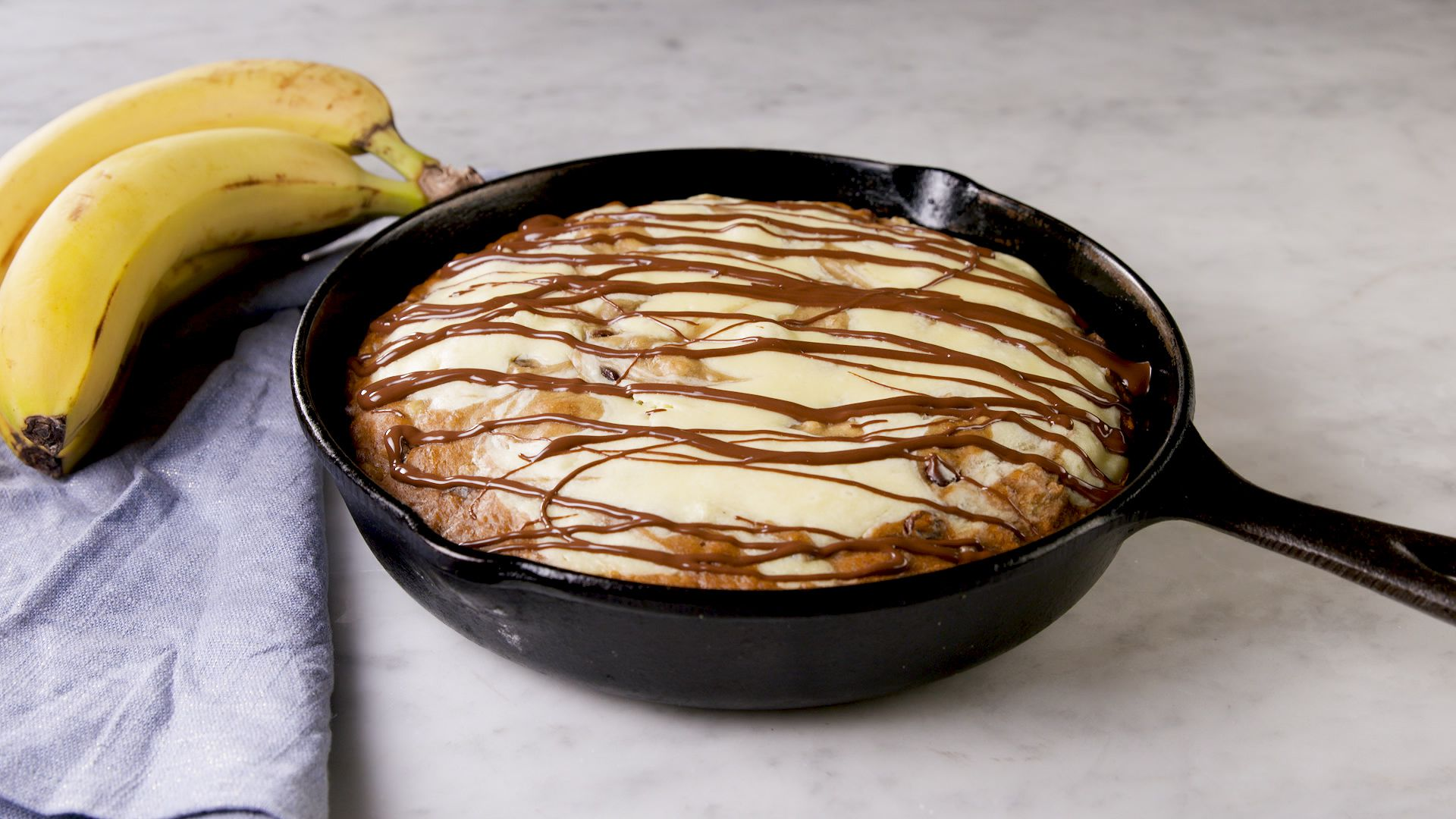 Skillet Cheesecake Banana Bread