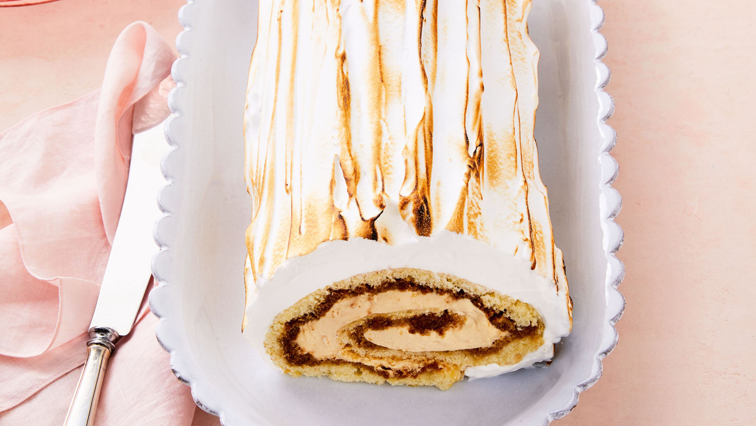 Coffee-Caramel Swiss Roll