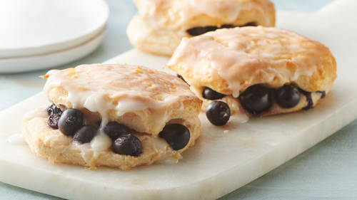 Blueberry Biscuits with Sweet Lemon Glaze