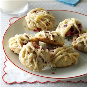 Cranberry Cookies with Browned Butter Glaze Recipe