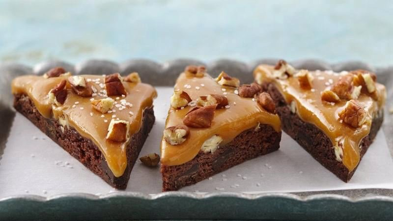 Salted Caramel Turtle Triangles