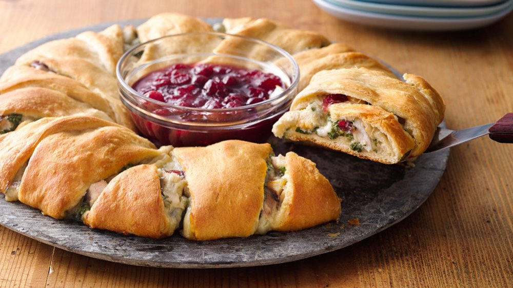 Cranberry Turkey Crescent Ring