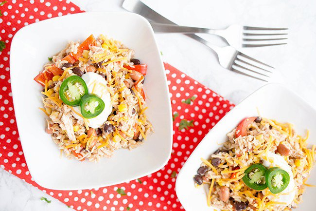 Recipe: Slow Cooker Chicken, Beans and Rice