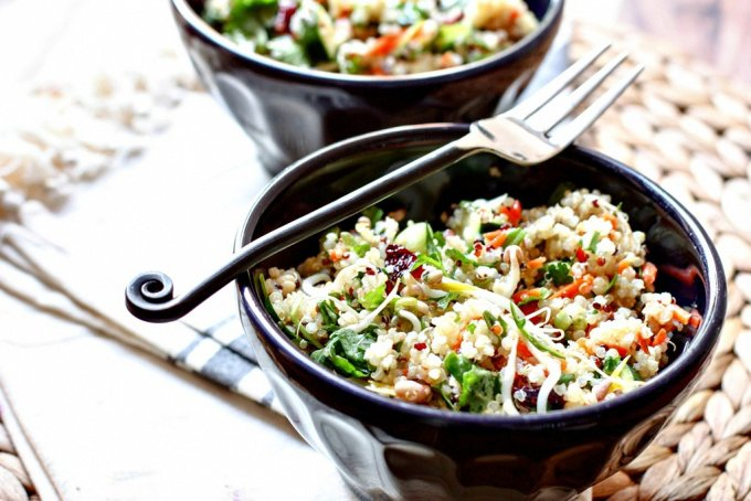Chopped Quinoa Salad with Cranberries