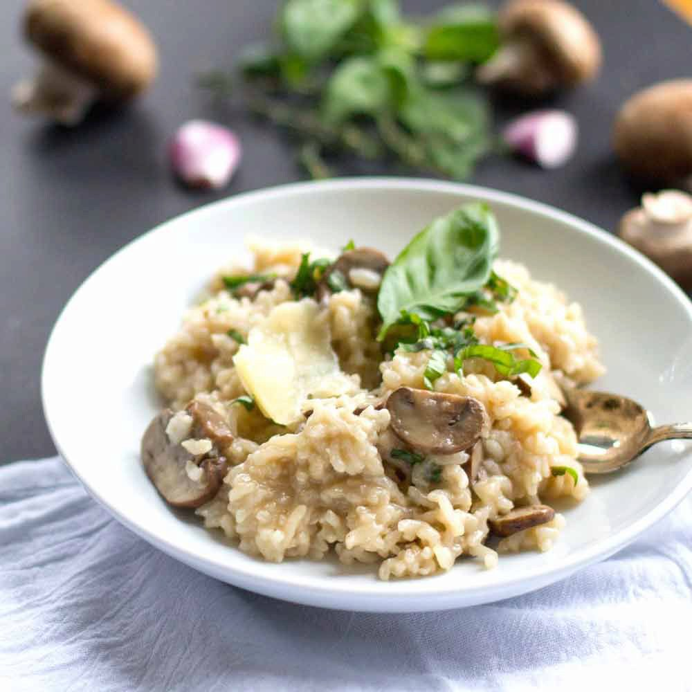 One-Pot Baked Mushroom and Herb Risotto
