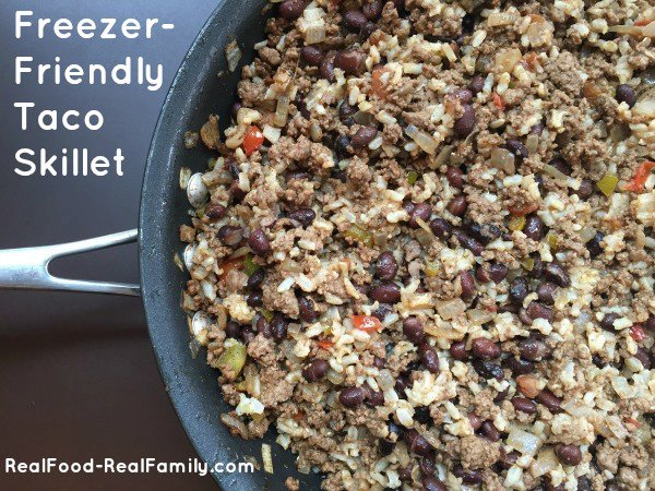 Freezer Friendly Taco Skillet