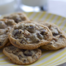 Chewy Double Chocolatey Chip Pecan Cookies