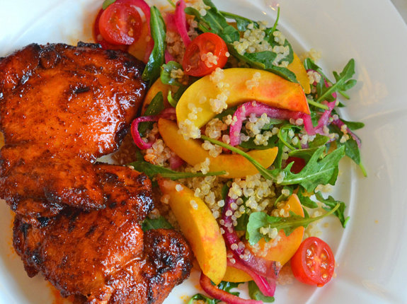 Spicy Chicken Thighs with Sweet & Tangy Honey Glaze