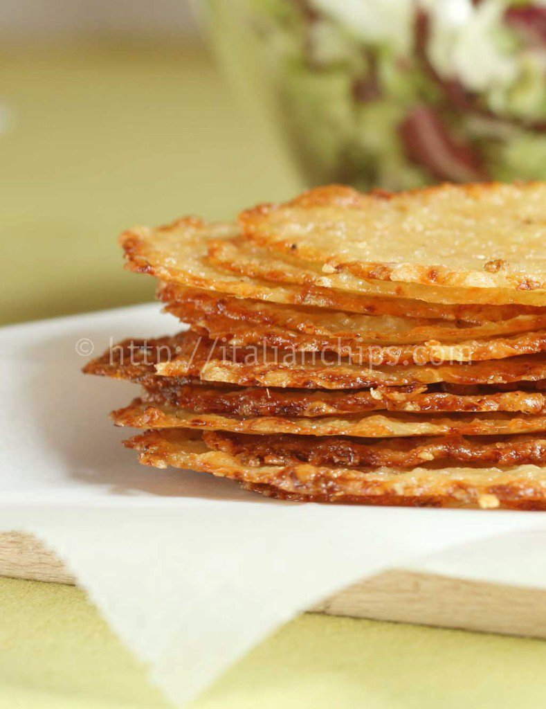 Parmesan Homemade Chips For Your Salads