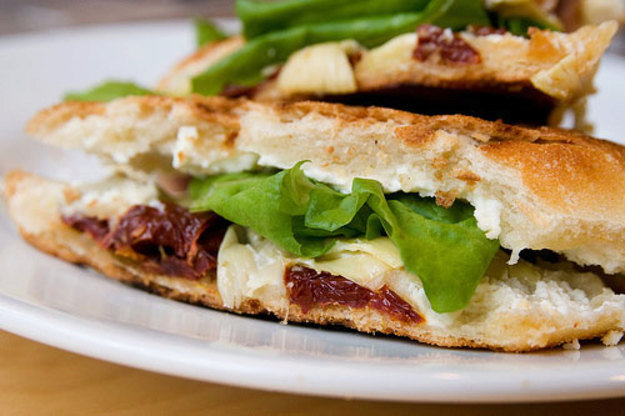 Cook the Book: Healthy and Delicious Artichoke, Oven-Roasted Tomato, and Goat Cheese Panini