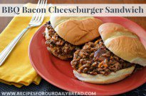BBQ Bacon Cheeseburger Sandwich