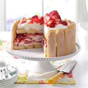 Strawberry Ladyfinger Icebox Cake Recipe
