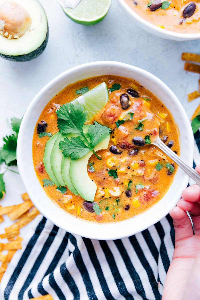 20-Minute Cheesy Chicken Tortilla Soup